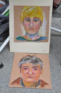 Stadtfest FinE 2017 - zwei Künstler im Bild