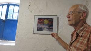 Günter in seiner Ausstellung