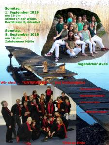 Plakat Chorkonzert Unterwegs